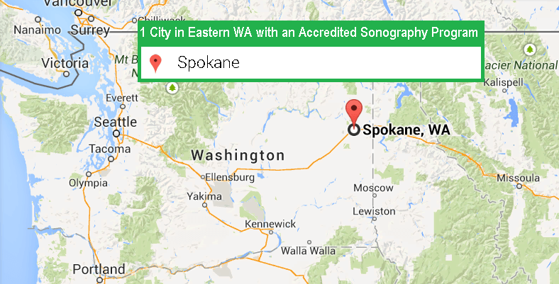 1 City with an Accredited Ultrasound Technician Program in Eastern Washington as of 2017