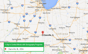 1 city in Central Illinois with an ARRT recognized ultrasound technician program