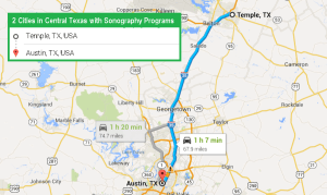 2 cities with ultrasound technician schools in Central Texas