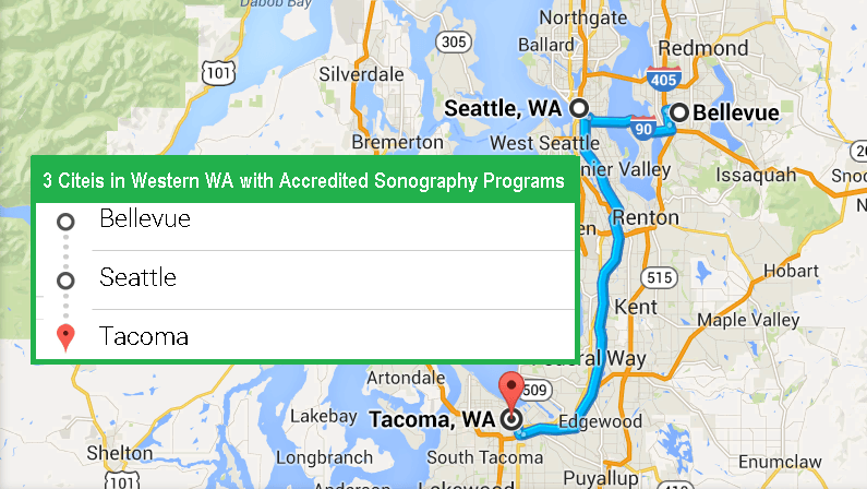 3 Cities with Accredited Ultrasound Technician Schools in Western Washington as of 2017