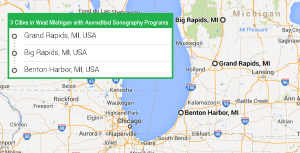 3 cities with accredited ultrasound technician schools in West Michigan