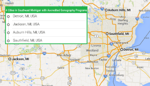 4 cities with accredited ultrasound technician schools in Southeast Michigan