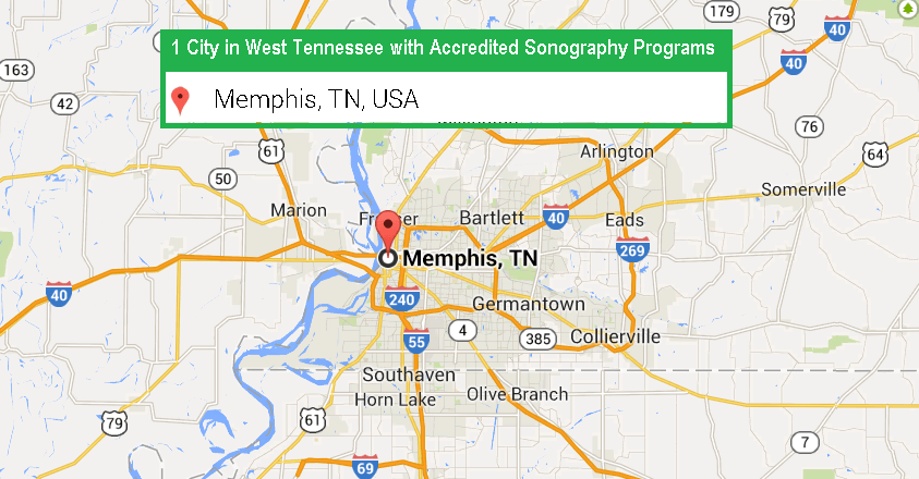 1 City with Accredited Ultrasound Technician Schools in West Tennessee in 2017