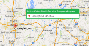 1 city with accredited ultrasound technician schools in Western Massachusetts