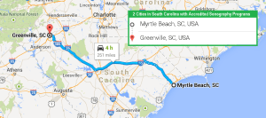 2 cities in South Carolina with accredited ultrasound technician programs