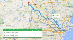 2 cities with ultrasound technician schools in Eastern Massachusetts