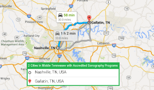 2 cities with accredited ultrasound technician schools in Middle Tennessee