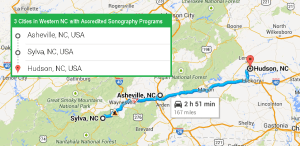 3 cities with accredited ultrasound technician schools in western North Carolina