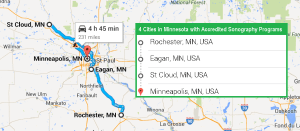 4 cities with accredited ultrasound technician schools in Minnesota