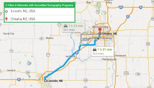 cities with ultrasound technician schools in Nebraska
