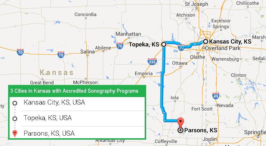 3 Cities with Accredited Ultrasound Technician Schools in Kansas in 2017