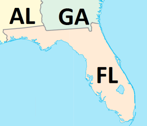 2 States near Florida with accredited sonography schools in 2014