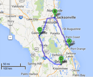 3 cities near Jacksonville Florida with accredited sonography schools in 2014