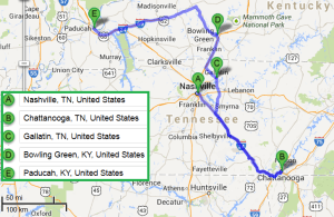 4 cities near Nashville Tennessee with accredited sonography schools in 2014
