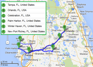 5 cities near Tampa Florida with accredited sonography schools in 2014