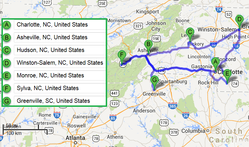 Accredited Ultrasound Technician Schools In Charlotte NC - Us map charlotte nc
