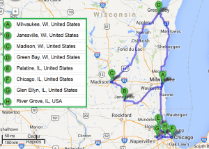 7 cities near Milwaukee Wisconsin with accredited sonography schools in 2014