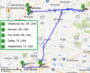 4 cities near Oklahoma City Oklahoma with accredited sonography schools in 2014