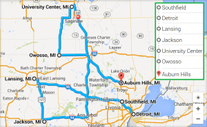 6 cities near Auburn Hills Michigan with accredited ultrasound technician schools in 2014