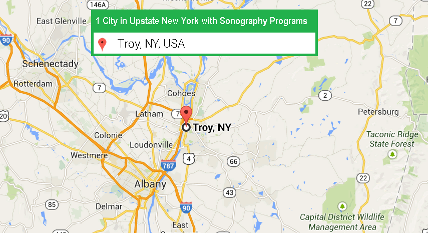 1 city with ultrasound technician schools in Albany NY in 2018