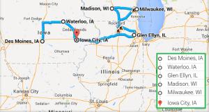 5 cities near Iowa City Iowa with accredited ultrasound technician schools in 2014