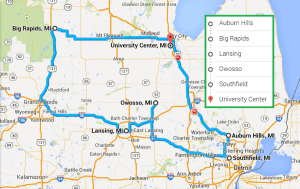 5 cities near University Center Michigan with accredited sonography schools in 2014