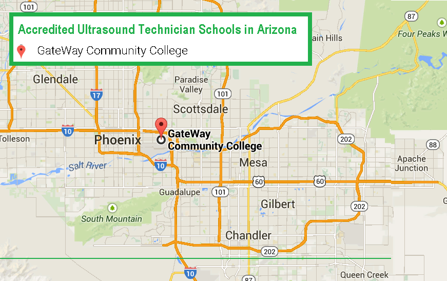 best accredited ultrasound technician school in Arizona in 2017