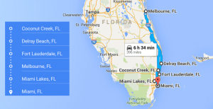 4 cities near Miami FL with accredited sonography programs in 2016