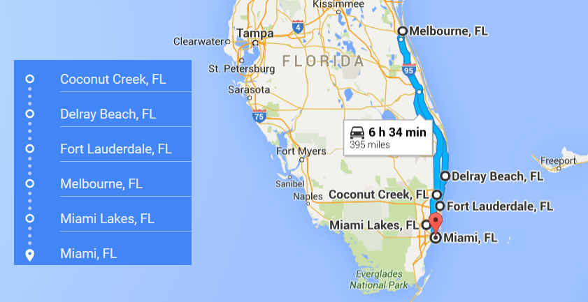 Map Of Melbourne Fl And Surrounding Cities