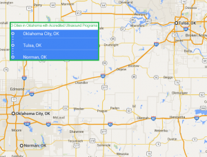 3 cities with ultrasound technician schools in Oklahoma