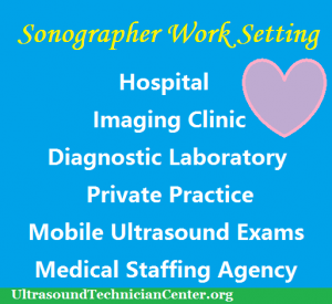 Where do sonographers or ultrasound technicians work?