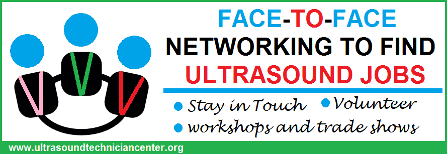 find ultrasound jobs through face to face networking