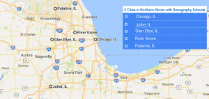 5 cities with ultrasound technician schools in Northern Illinois