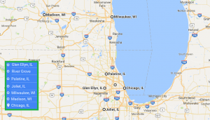 6 cities near Chicago Illinois with accredited sonography schools in 2017