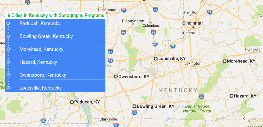 6 cities in Kentucky with ultrasound technician schools in 2017